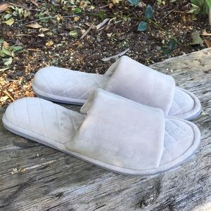 Dearfoams Slippers Quilted Grey Size XL 11-12
